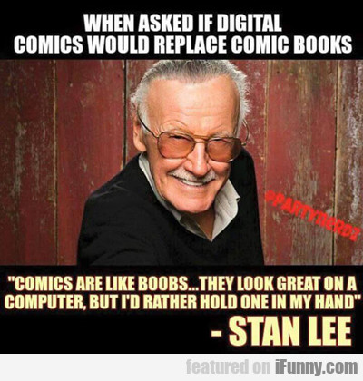 When Asked If Digital Comic Would Replace...