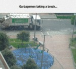Garbagemen Taking A Break...