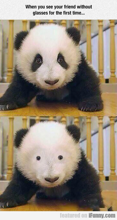 When You See Your Friend Without Makeup...