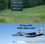 Speed Limit Enforced By Aircraft...
