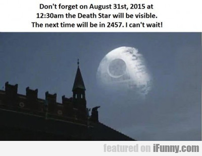 Don't Forget On August 31...