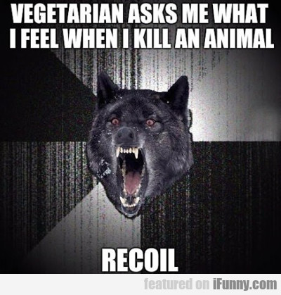 Vegetarian Asks Me What I Feel...