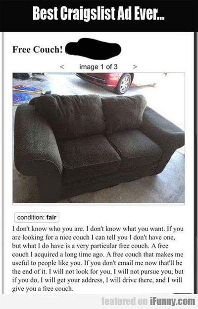 Best Craigslist Ad Ever...