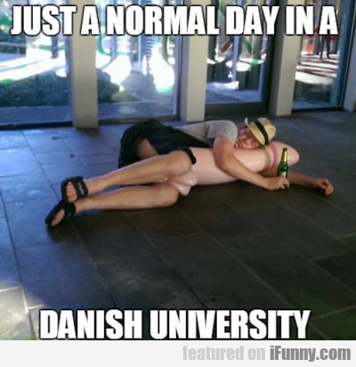 Just A Normal Day In A Danish University...