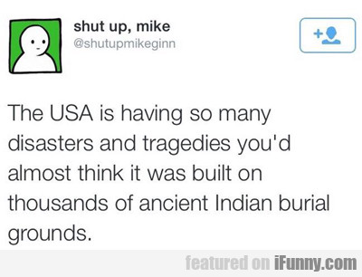 The Usa Is Having So Many Disasters...
