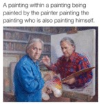 A Painting With A Painting Being Painted...