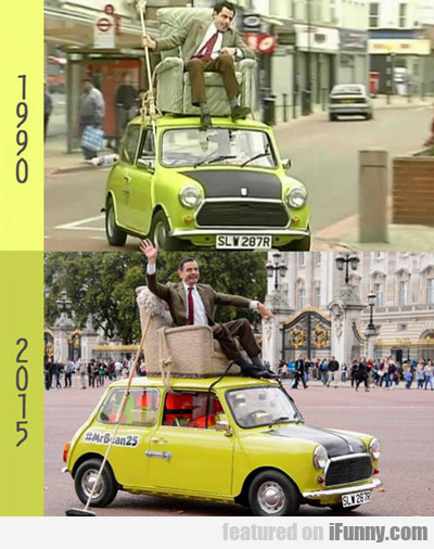 Mr. Bean: 1990 Vs. 2015...