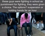 These Guys Were Fighting In School..