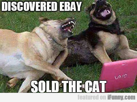 Discovered Ebay, Sold The Cat