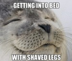 Getting Into Bed With Shaved Legs...