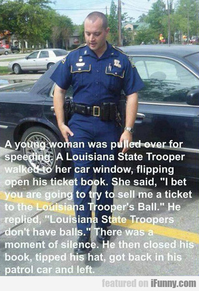 A Young Woman Was Pulled Over...