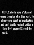 Netflix Should Have A Channel...