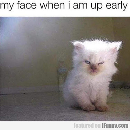 My Face When I Am Up Early...