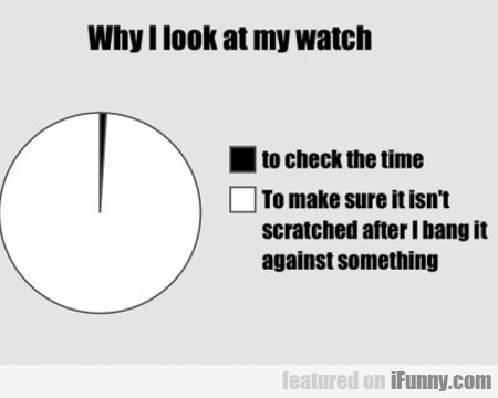why i look at my watch...