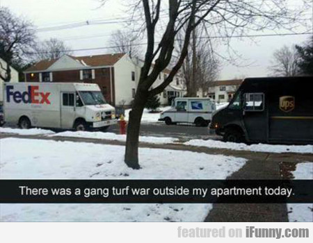 There Was A Gang Turf War...
