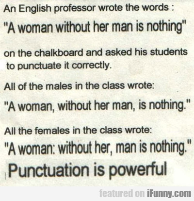 An English Professor Wrote The Words...