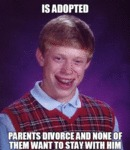 Is Adopted, Parents Divorce And None Of Them...