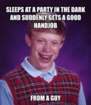 Sleeps At A Party In The Dark...