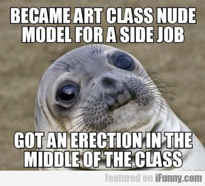 Became Art Class Nude Model For A Side Job...