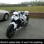 World's Safest Bike. It Won't Hit Anything...