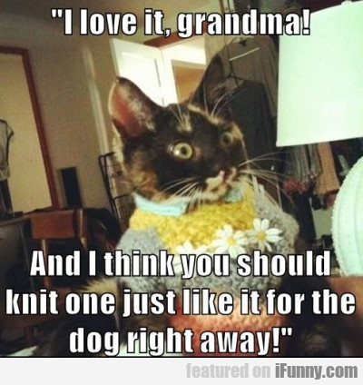 I Love It Grandma And I Think You Shuld Knit One