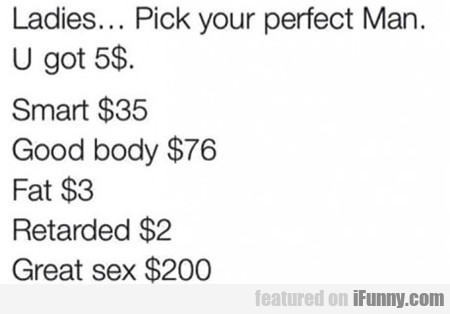 Ladies... Pick Your Perfect Man...