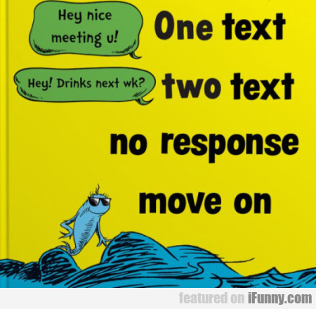 hey nice meeting u one text two text