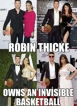 Robin Thicke Owns An Invisible Basketball...