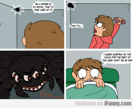 ah a spider in my room time