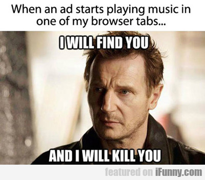 When An Ad Starts Playing Music...