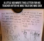 A Little Kid Wrote This Letter...