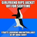 Girlfriend Rips Jacket Off For Sexy Time...
