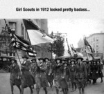 Girl Scouts In 1912...