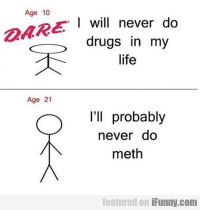 I Will Never Do Drugs In My Life...