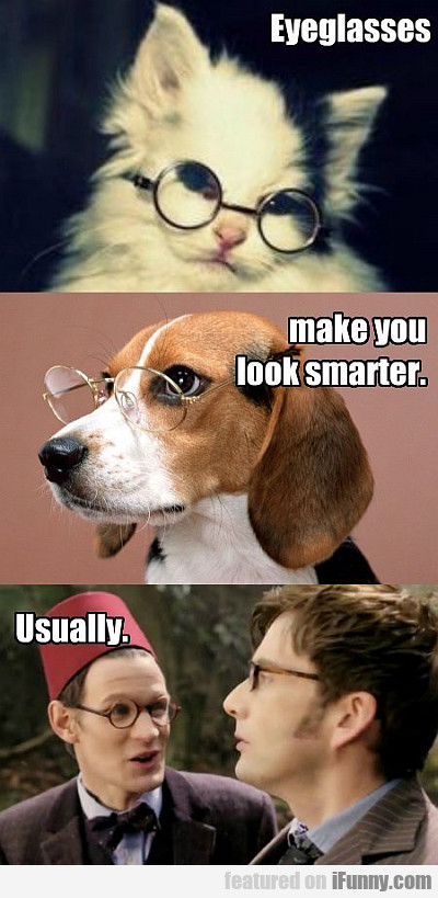 eyeglasses make you look smarter