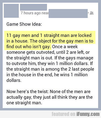 awesome game show idea