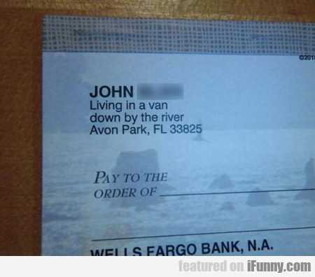 John, Living In A Van