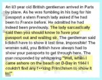 An 83 Year Old British Gentleman Arrived In Paris