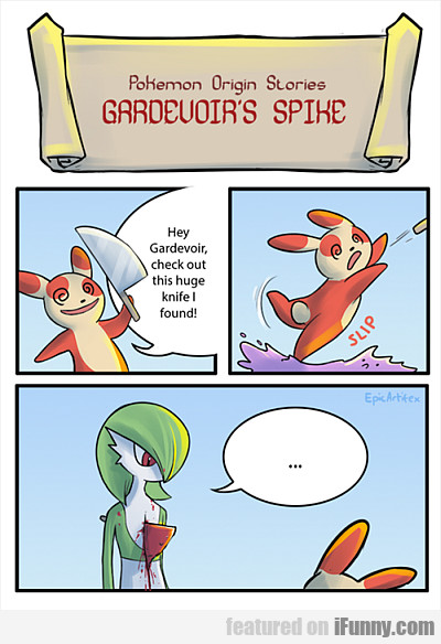 Hey Gardevoir, Check Out This Huge Knife...