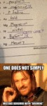 One Does Not Simply Mistake...