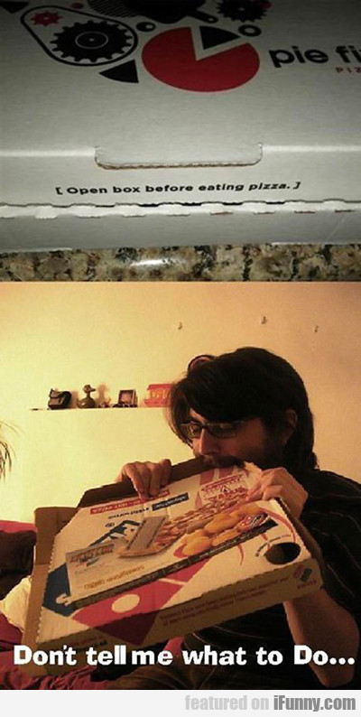 Open Box Before Eating Pizza...