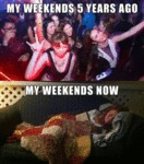 My Weekends Five Years Ago...