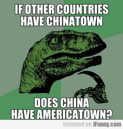 If Other Countries Have Chinatown...