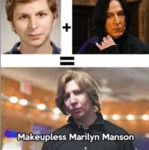 Michael Cera+ Snape = Makeupless Marilyn Manson