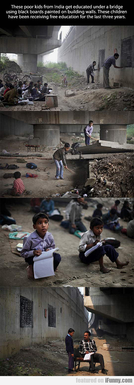 These Kids From India Get Educated Under A Bridge