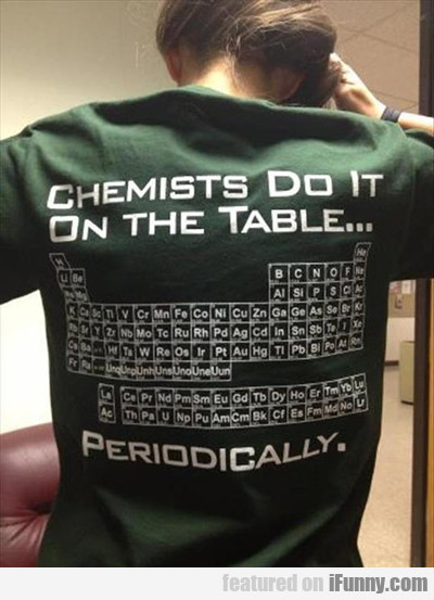 chemists do it on the table...