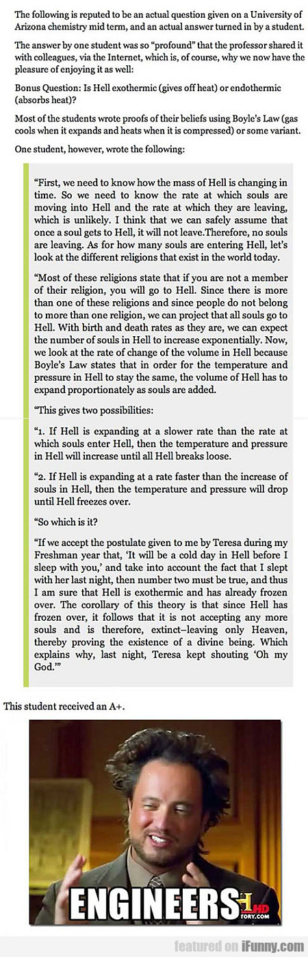 "Student Asked About ""hell"" In An Exam..."