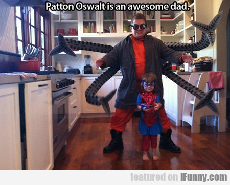 patton oswalt is an awesome dad...