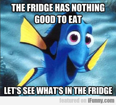 The Fridge Has Nothing Good To Eat...