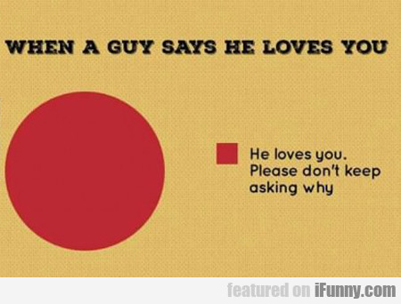 When A Guy Says He Loves You...